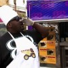 "Big Black on ""Fantasy  Factory"" and the Sky truck in the background we wrapped for the Food Networks 2011 ""Great Food Truck Race"""