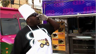 """Big Black on """"Fantasy  Factory"""" and the Sky truck in the background we wrapped for the Food Networks 2011 """"Great Food Truck Race"""""""